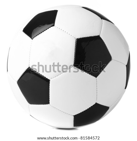 soccer ball isolated on a white background - stock photo