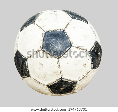 soccer ball isolated on gray background - stock photo