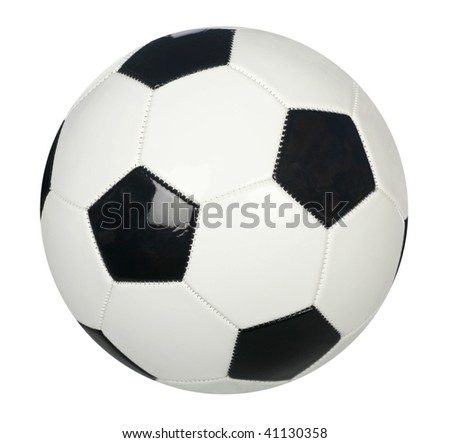 Soccer ball isolated on plain white background - stock photo