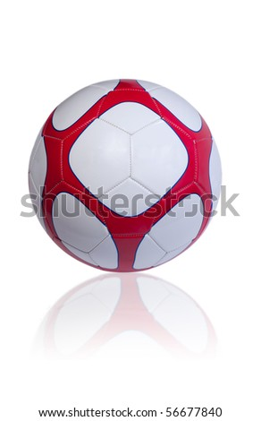 Soccer ball isolated on the white background - stock photo