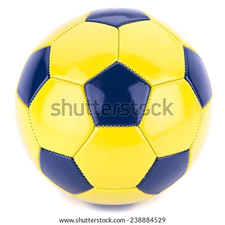 Soccer ball isolated on white background.  - stock photo