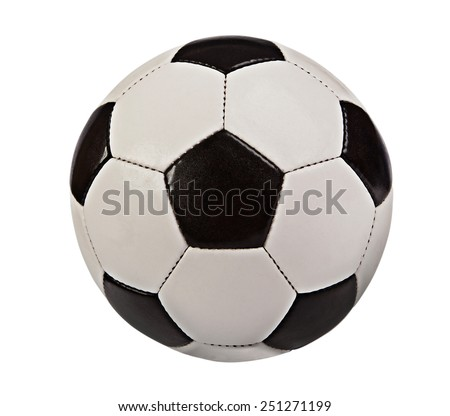 Soccer ball isolated on white background - stock photo