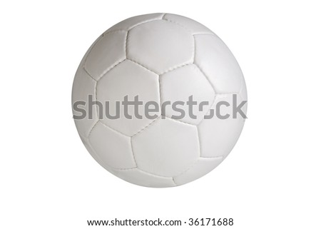 Soccer ball isolated on white background, clipping path included