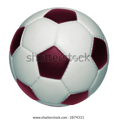 Soccer ball isolated on white background, clipping path is included