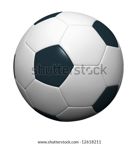 Soccer ball isolated on white background. 3D rendering. - stock photo