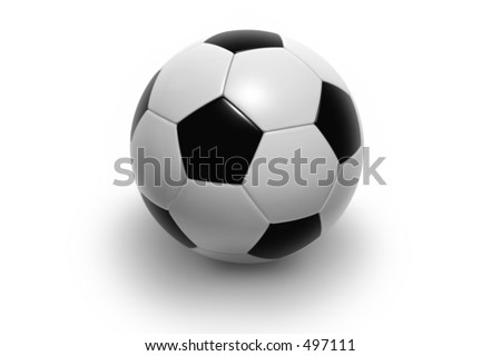 soccer ball isolated on white background. Photorealistic 3D rendering. - stock photo