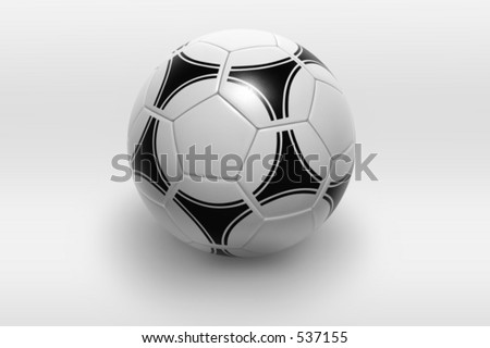 soccer ball isolated on white background. Photorealistic 3D rendering. Modern texture, see portfolio for different textures and colors. - stock photo