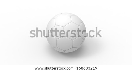 soccer ball isolated on white. football ball - stock photo
