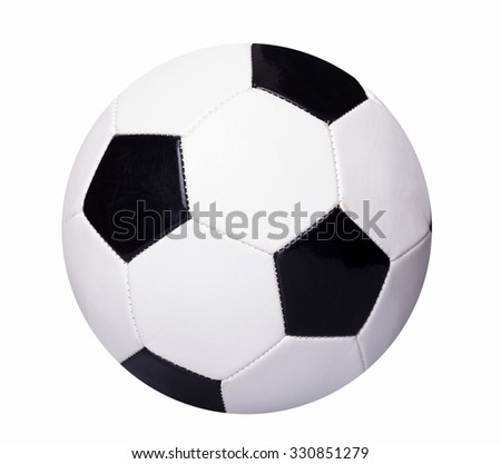 Soccer ball isolated over white background - stock photo