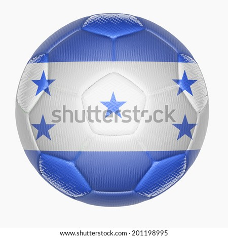 Soccer ball mapping with Honduras flag  - stock photo