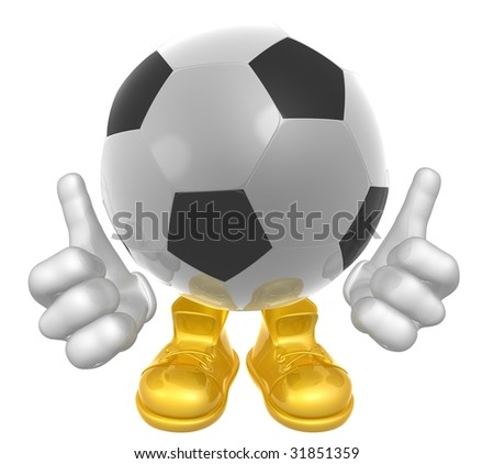 Soccer ball mascot illustration - stock photo