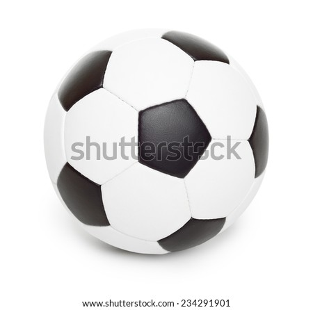 soccer ball object isolated on white - stock photo