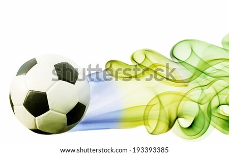 Soccer ball of Brazil 2014 - stock photo