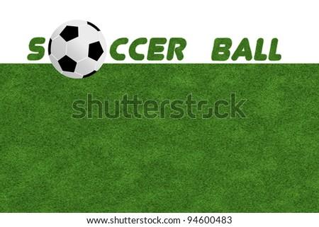 Soccer ball on field grass - stock photo