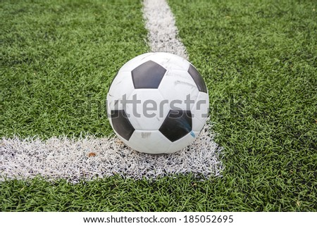 soccer ball on line