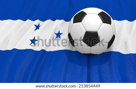 Soccer ball on the honduras flag - stock photo