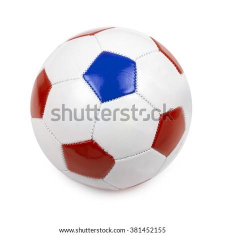 soccer ball on white - stock photo