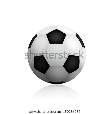Soccer ball on white background - stock photo