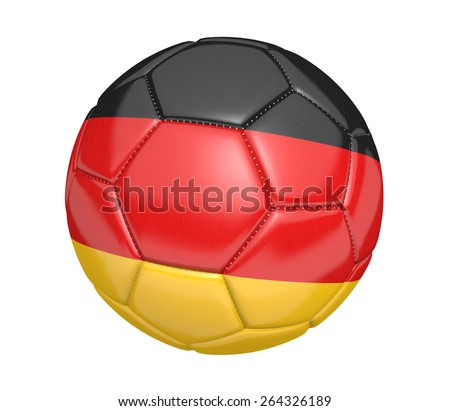 Soccer ball, or football, with the country flag of Germany - stock photo