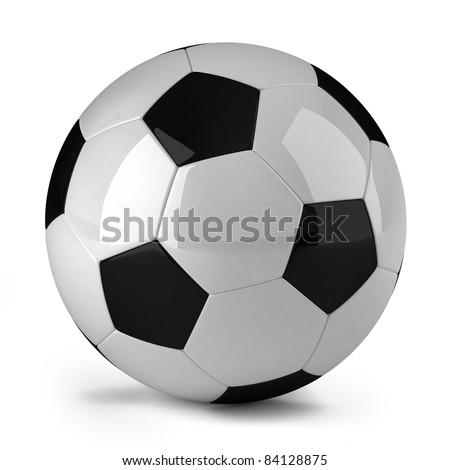 Soccer ball over white background - stock photo