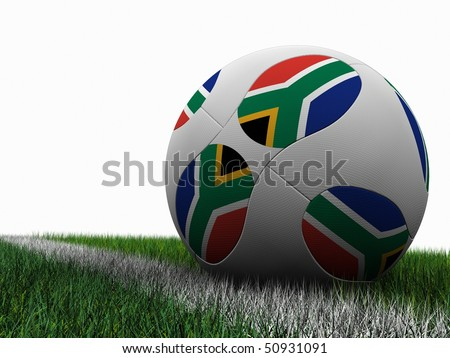 Soccer Ball South Africa World Cup 2010 - stock photo