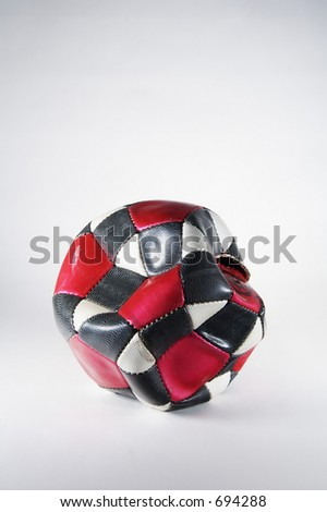 Soccer ball that has been kicked to death - stock photo