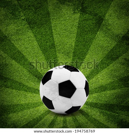Soccer ball. The sports background. Grunge style - stock photo