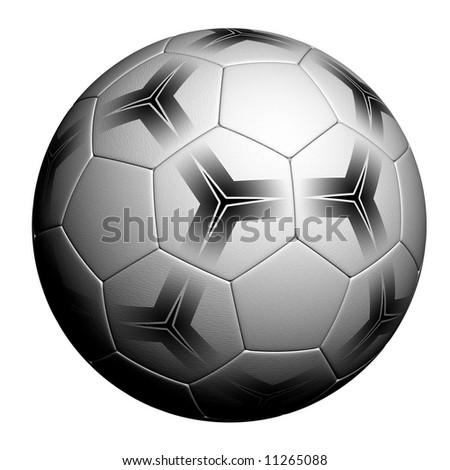 Soccer Ball - very highly detailed soccer ball render over white background - stock photo