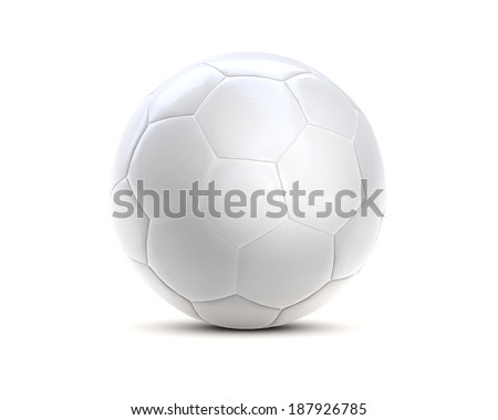soccer ball white 3d