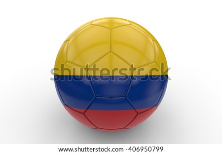Soccer ball with Algeria flag isolated on white background; 3d rendering - stock photo