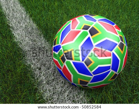 soccer ball world cup South Africa 2010 - stock photo