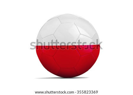 Soccer balls with team flags, Football Euro 2016. Group C, Poland - clipping path - stock photo