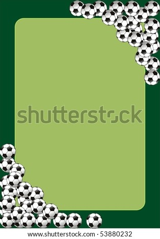 soccer banner with the balls