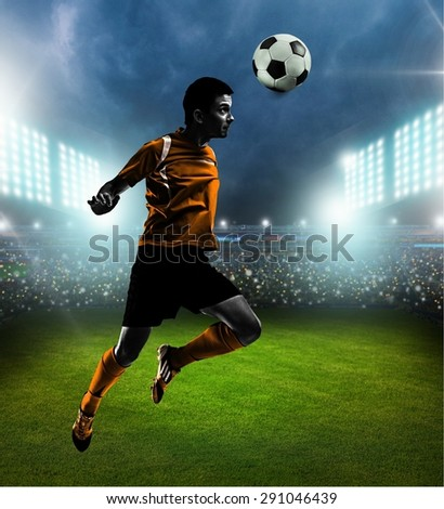 Soccer, brazil, heading. - stock photo