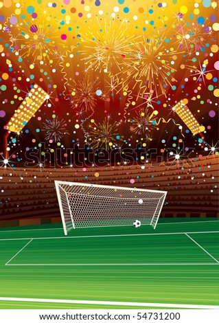 Soccer celebrating stadium background  ( id=54626377 version vector) - stock photo
