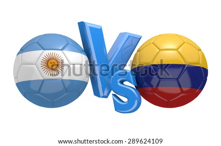 Soccer competition, national teams Argentina vs Colombia - stock photo