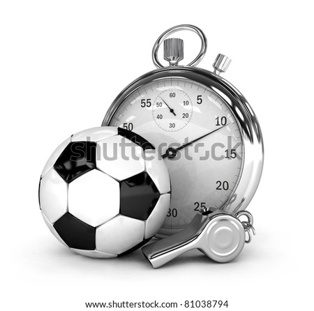 Soccer concept Chronometer isolated 3d rendered - stock photo