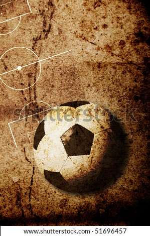 soccer concept in grunge style - stock photo