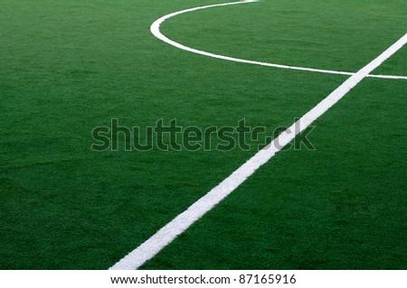 Soccer field - stock photo