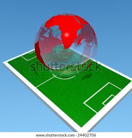 soccer field africa - stock photo