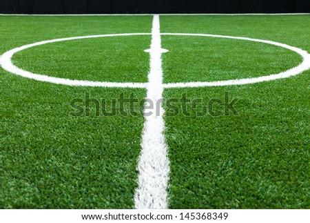 soccer field grass - stock photo