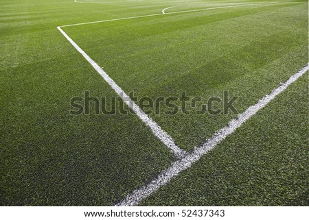 Soccer field-grass detail - stock photo