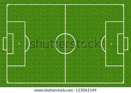 soccer field , green grass - stock photo