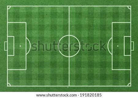 Soccer field green paper - stock photo