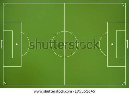 Soccer field green pitch top view - stock photo