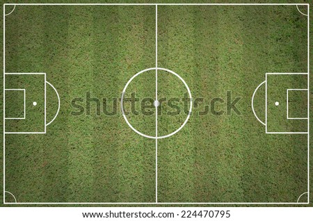 Soccer field layout - stock photo