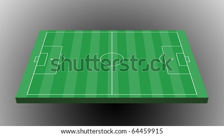 Soccer field on gray background
