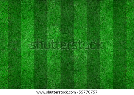 soccer field with lines on grass - stock photo