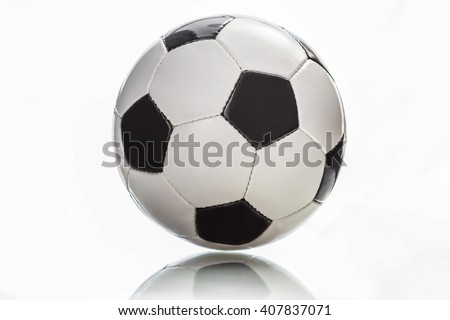 soccer football ball isolated on white background - stock photo