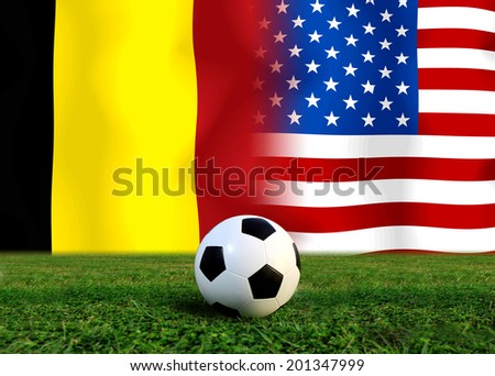 Soccer 2014 ( Football ) Belgium and United States of America - stock photo